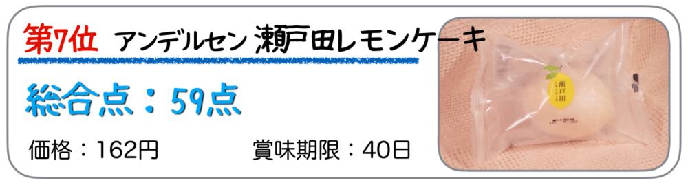 第7位 アンデルセン 瀬戸田のレモンケーキ