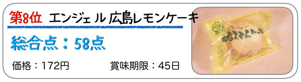 第8位 エンジェル 広島れもんケーキ