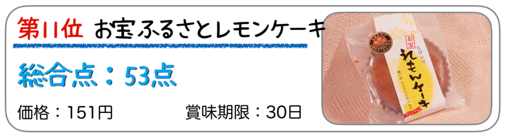 第11位 お宝ふるさとレモンケーキ